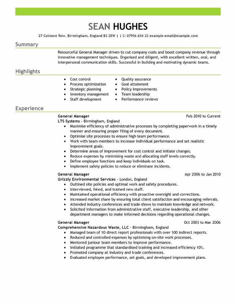 11 Amazing Management Resume Examples
