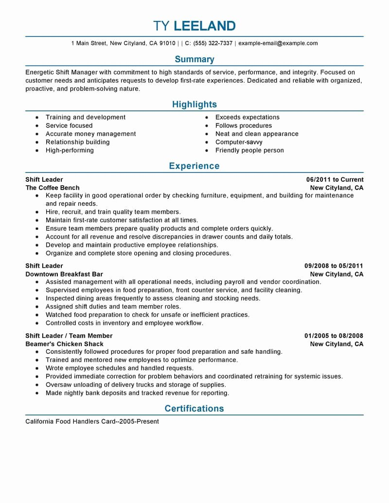 11 Amazing Management Resume Examples