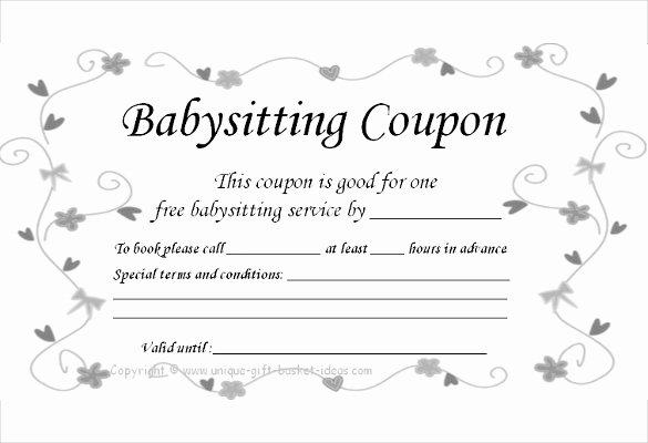 11 Baby Sitting Coupon Templates Psd Ai Indesign