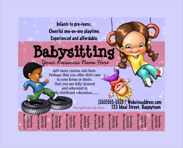 11 Babysitting Flyers