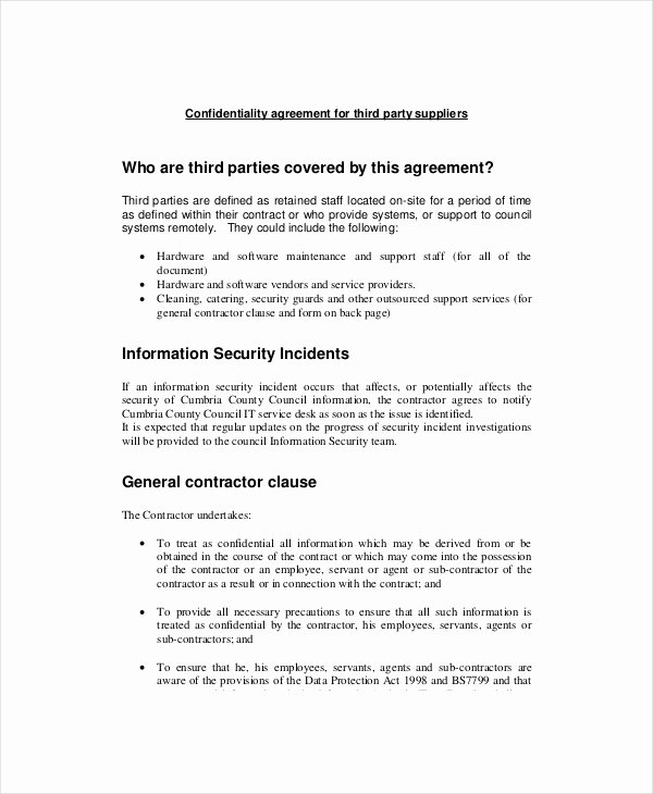 sample basic confidentiality agreement