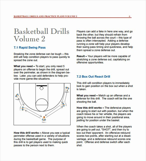 11 Basketball Practice Plan Templates – Free Sample