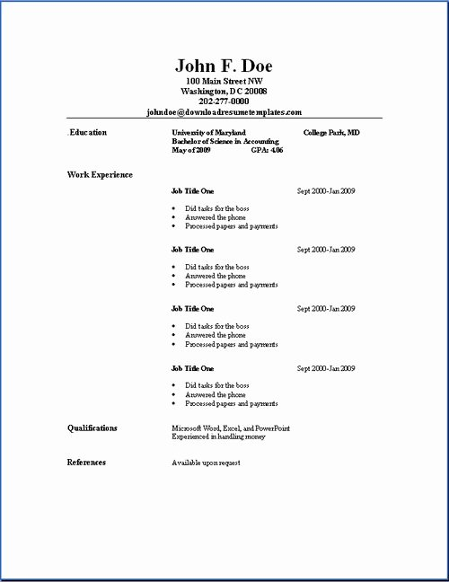 11 Best College Student Resume Images On Pinterest