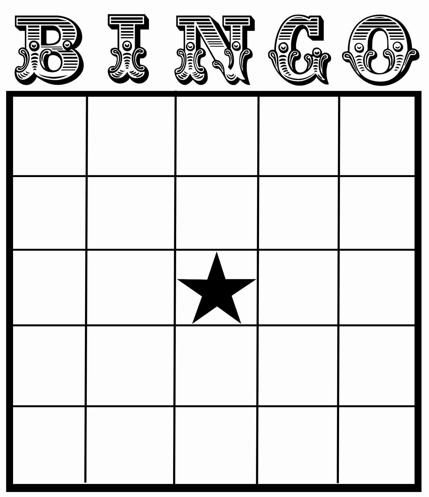 11 Best Of Excel Bingo Card Printable Template