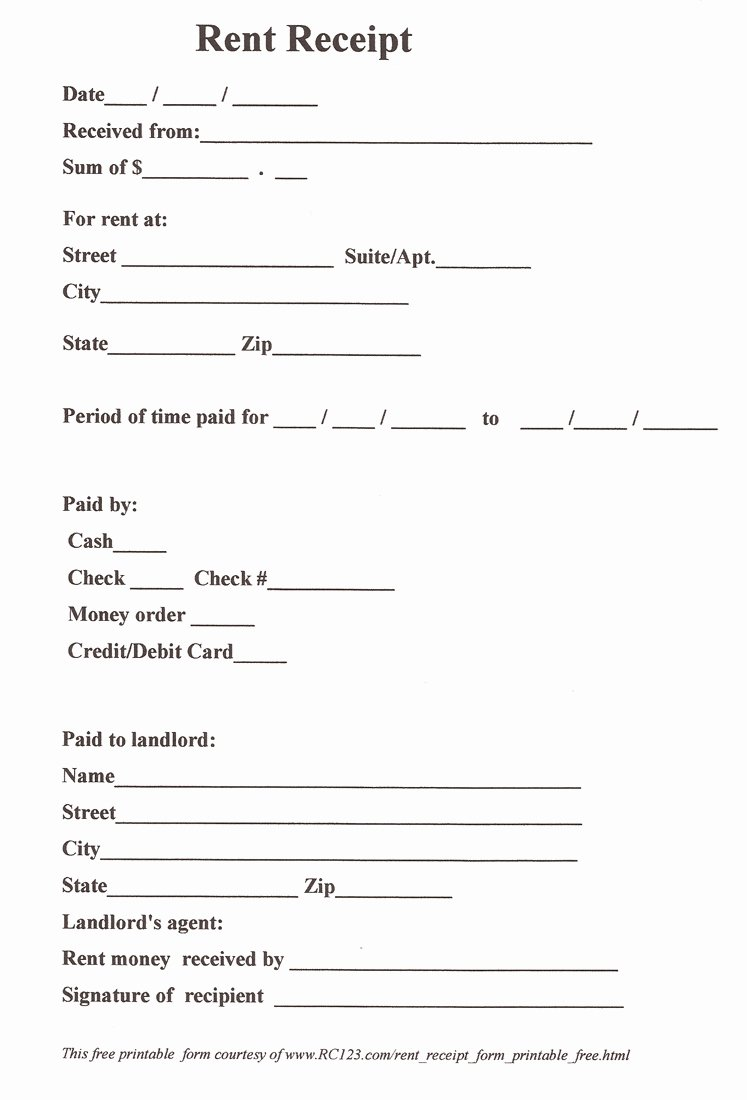 11 Best Of Free Printable Payment Receipt form