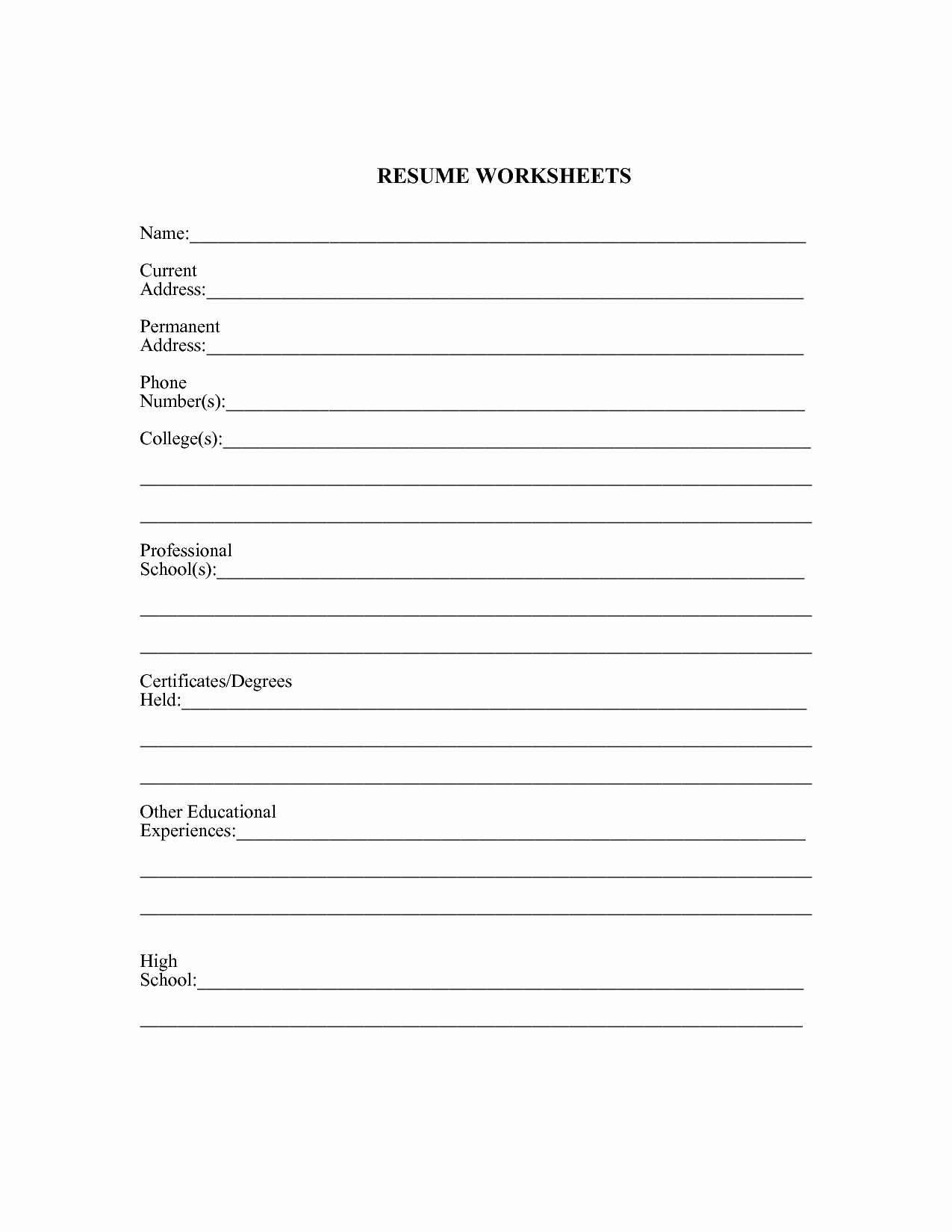 11 Best Of Job Search Worksheet Job Search Action