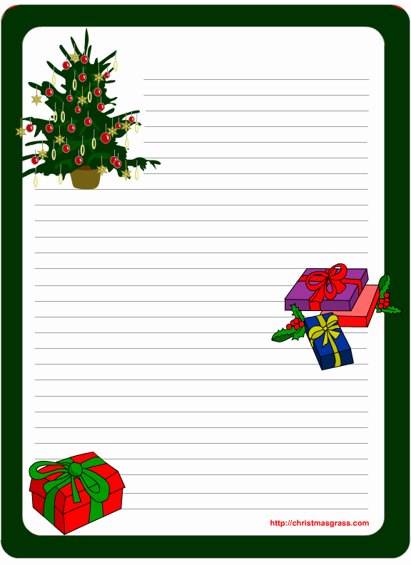 11 Best S Of Free Printable Christmas Stationery