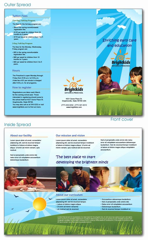 11 Best S Of Sample Daycare Brochure Preschool