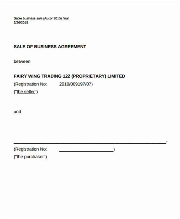 11 Business Agreement Templates Word Docs