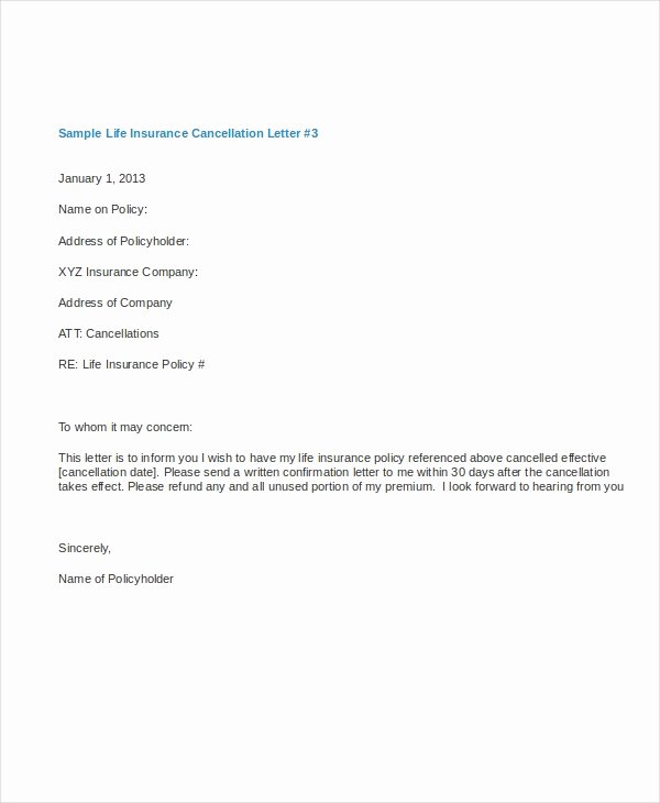 11 Cancellation Letter Templates Pdf Doc