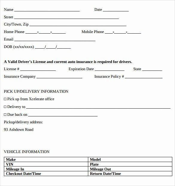 11 Car Rental Agreements