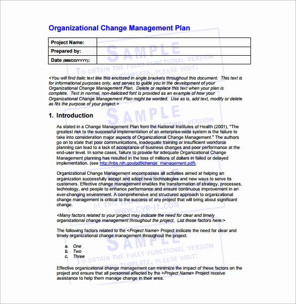11 Change Management Plan Templates Free Sample