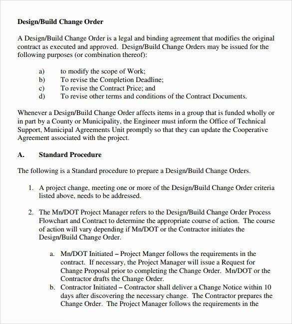 11 Change order Samples
