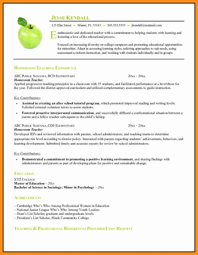 11 Curriculum Vitae Template Teacher
