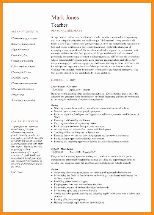 11 Curriculum Vitae Template Teacher