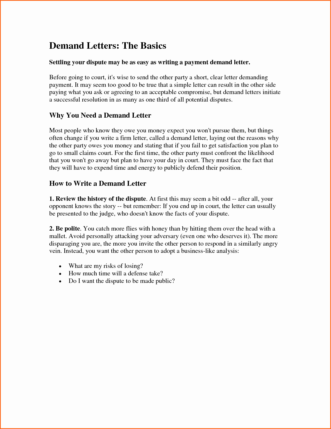 11 Demand Letter Template Bud Template Letter