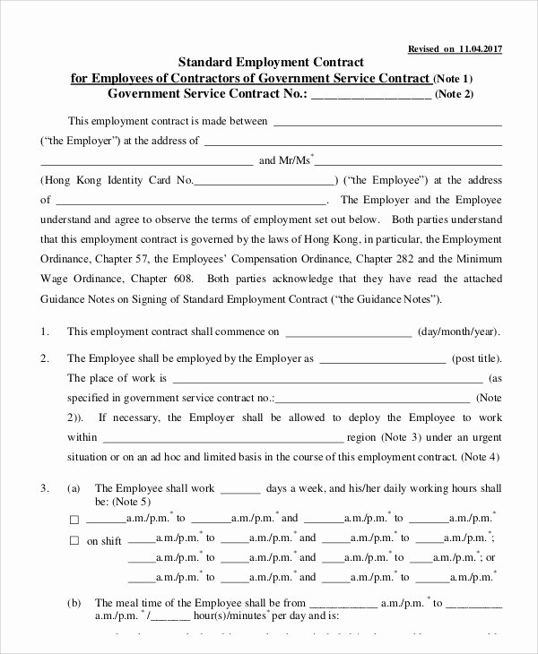 11 Employment Contract Templates Pages Docs Word