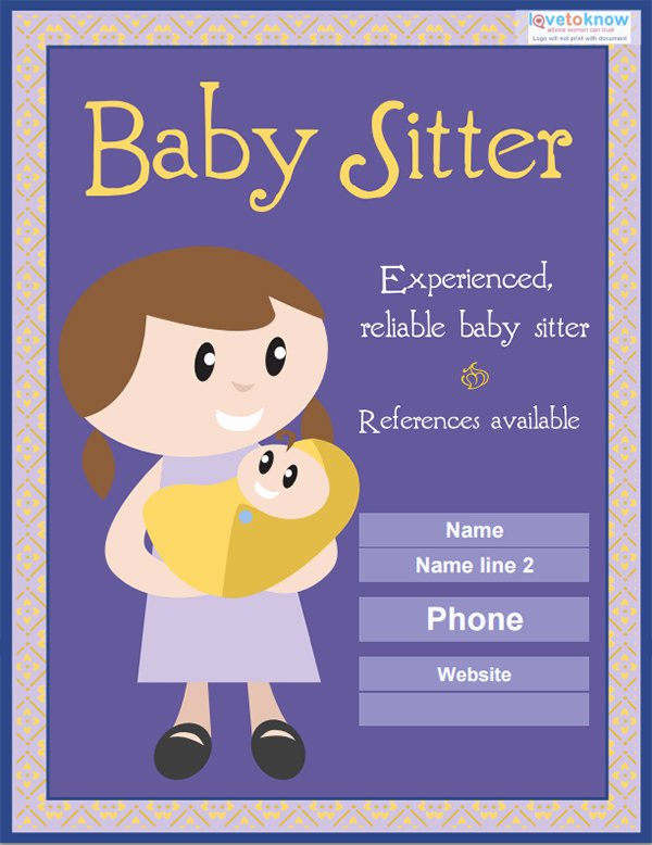 11 Fabulous Psd Baby Sitting Flyer Templates