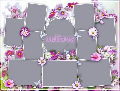 11 Frame Collage Template Psd Collage Templates