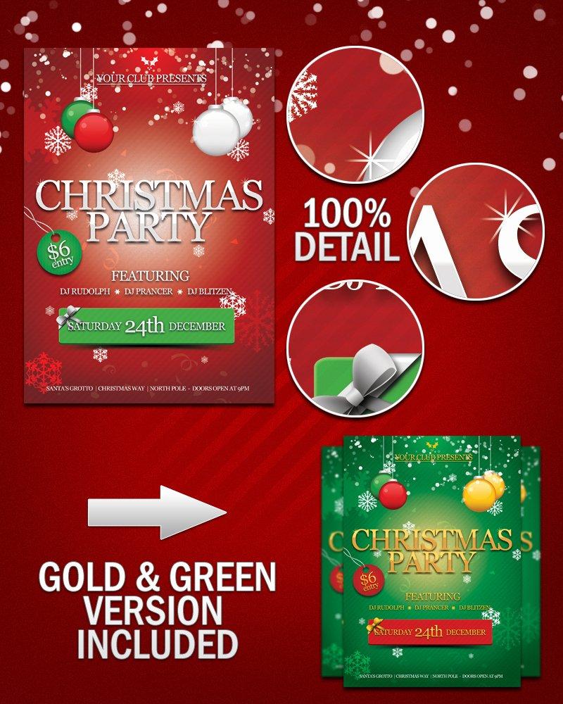 11 Free Christmas Psd Poster Merry Christmas