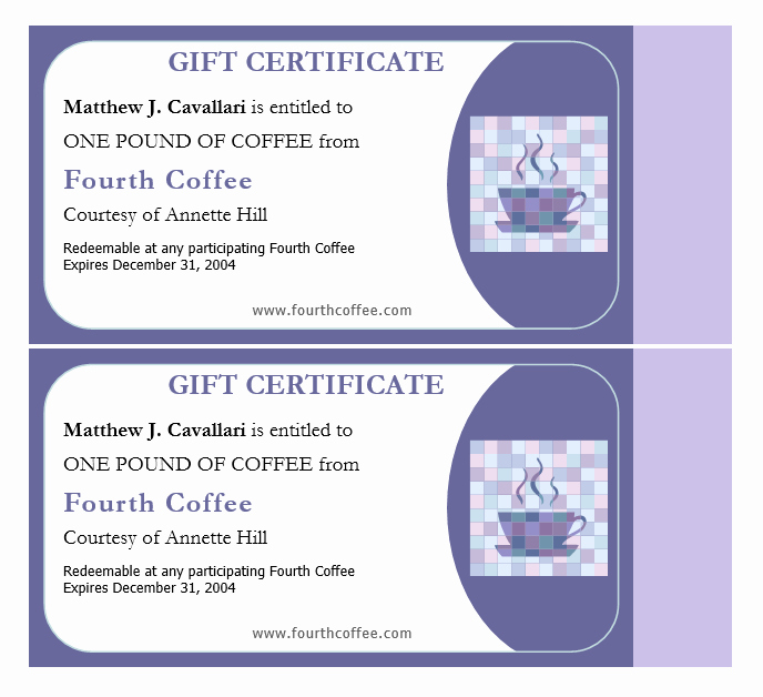 11 Free Gift Certificate Templates – Microsoft Word Templates