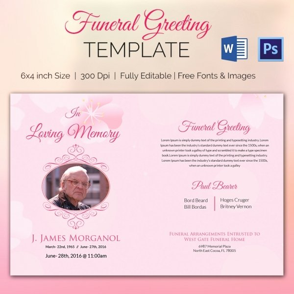 11 Funeral Card Templates Free Psd Ai Eps format