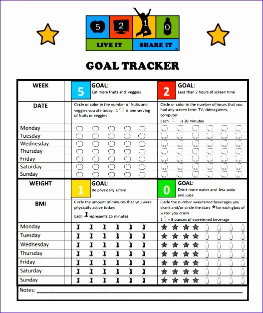 11 Goal Setting Template Excel Exceltemplates