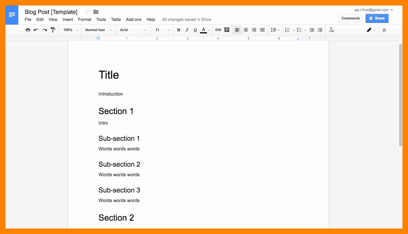 11 Google Docs Book format