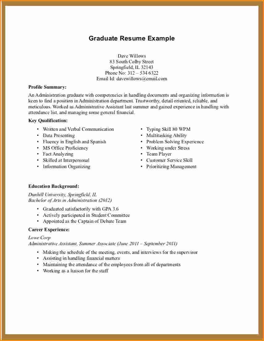 11 Graduate Student Resume Objective
