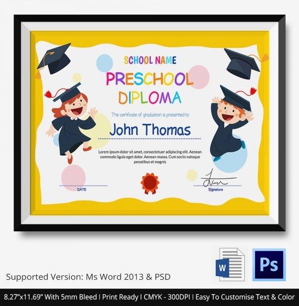11 Graduation Certificate Templates Word Pdf Documents
