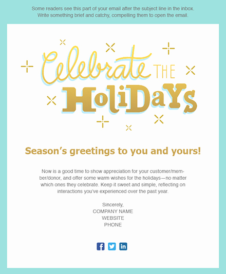 11 Holiday Email Templates for Small Businesses & Nonprofits