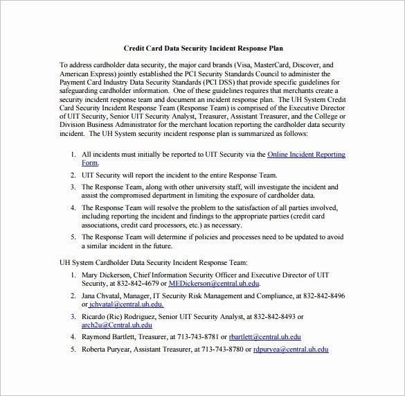 11 Incident Response Plan Templates – Free Sample