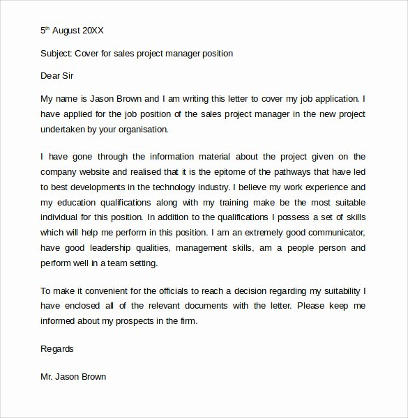 11 Job Application Cover Letters – Samples Examples