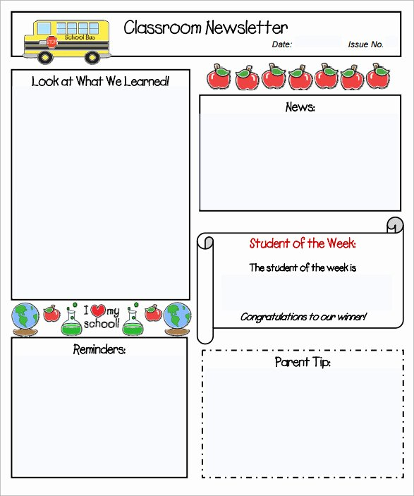 11 Kindergarten Newsletter Templates Free Sample