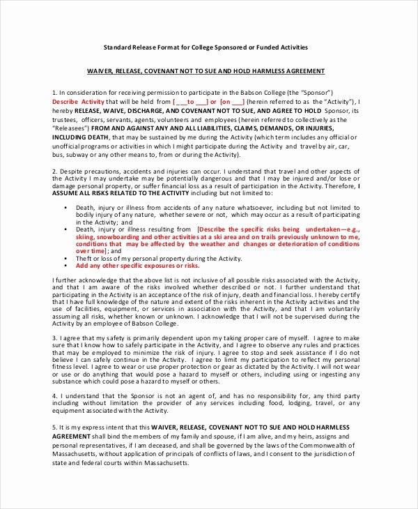 11 Liability Waiver form Templates Pdf Doc