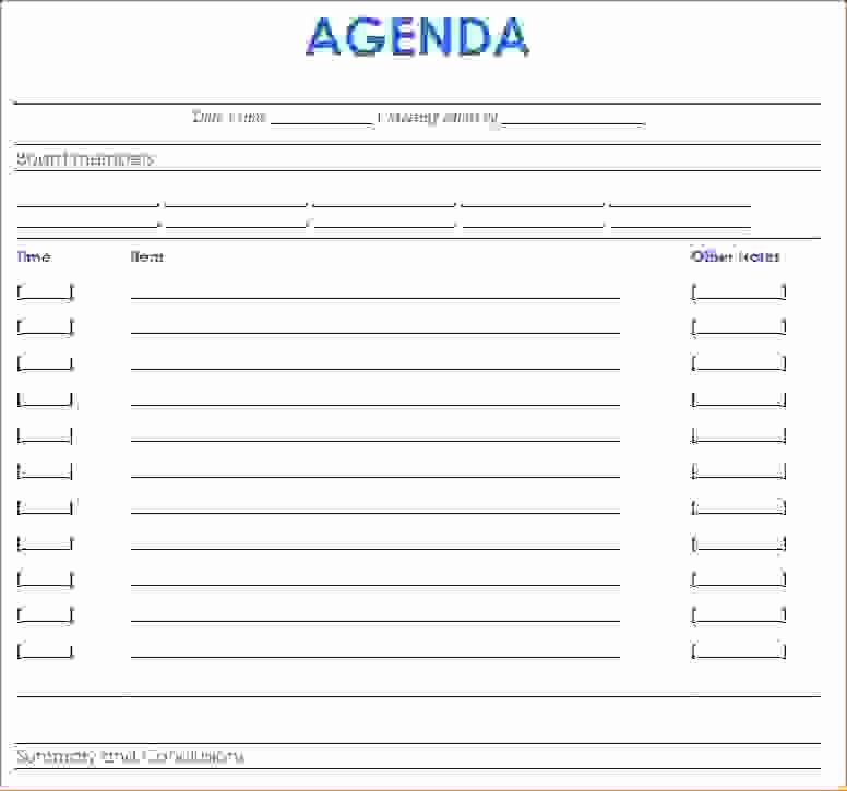 11 Meeting Agenda Word Templateagenda Template Sample