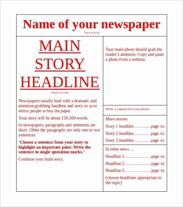 11 News Paper Templates Word Pdf Psd Ppt