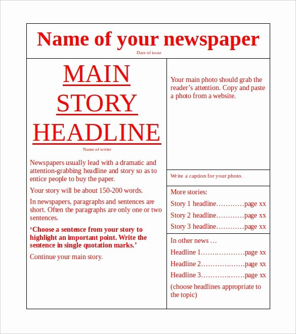 11 News Paper Templates Word Pdf Psd Ppt