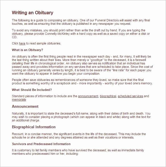 11 Obituary Templates Word Excel Pdf formats