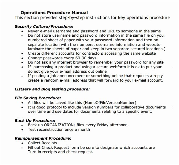 11 Operations Manual Templates to Download