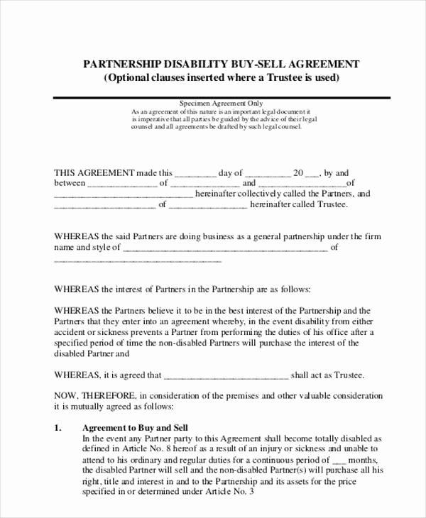 11 Partnership Agreement form Samples Free Sample