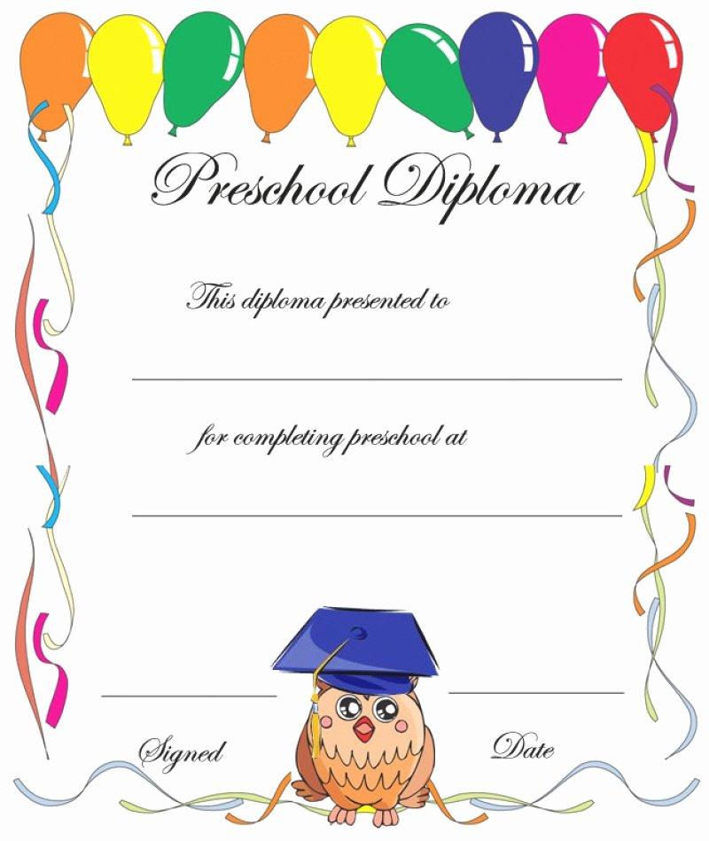 11 Preschool Certificate Templates Pdf