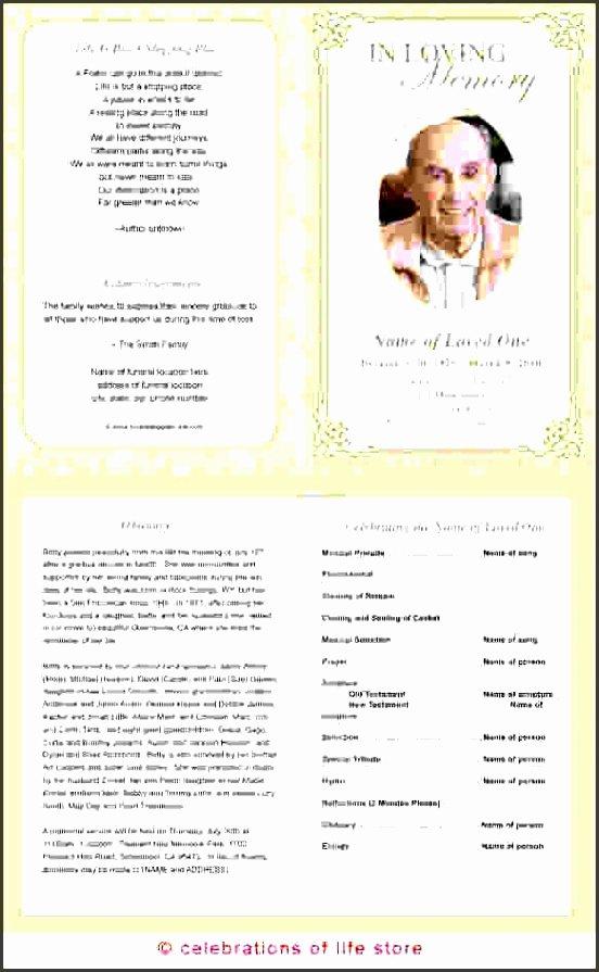 11 Printable Funeral Program Template Sampletemplatess