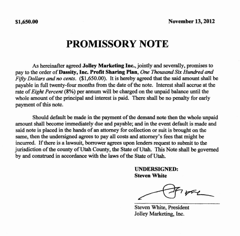 11 Promissory Note Templates Word Excel Pdf formats