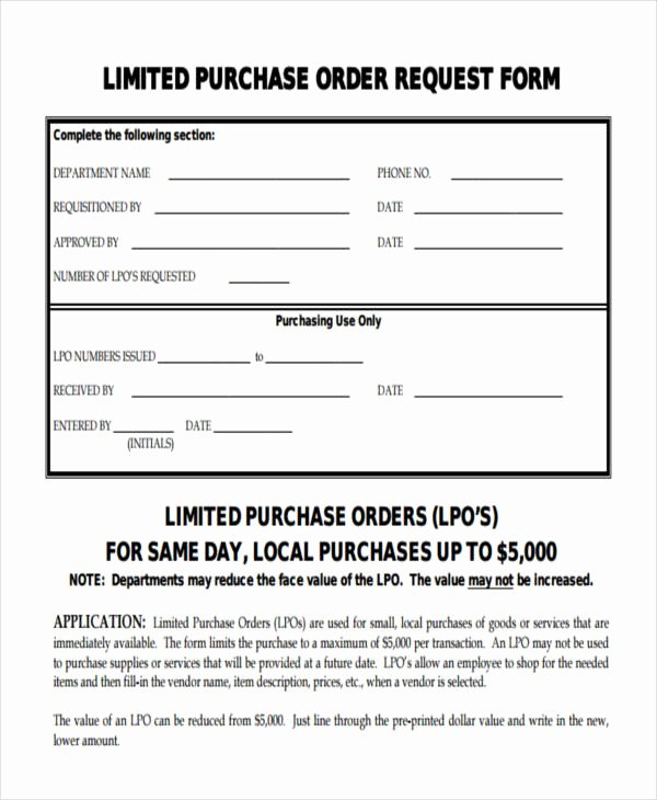 11 Purchase order forms Free Samples Examples formats