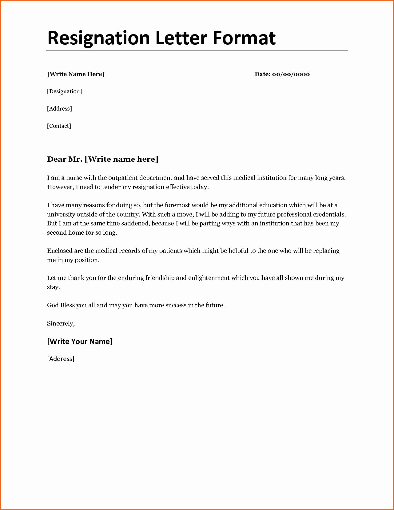 11 Resignation Letter format Bud Template Letter
