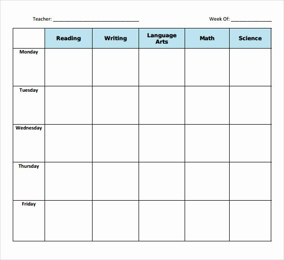 11 Sample Blank Lesson Plans
