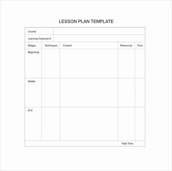 11 Sample Blank Lesson Plans