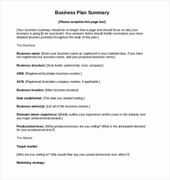 11 Sample Business Action Plans
