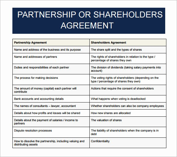 11 Sample Business Partnership Agreement Templates to
